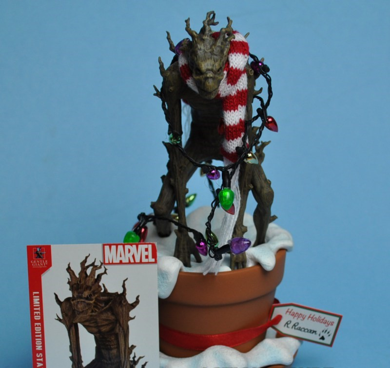 Gentle Giant Potted Groot Guardians of the Galaxy Statue Holiday Exclusive