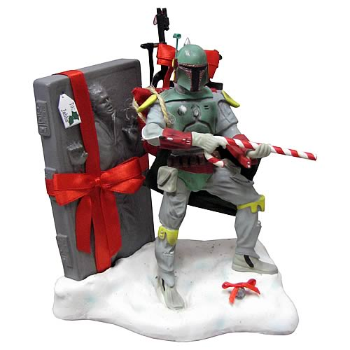 "Star Wars ""Boba Fett with Carbonite Christmas"" Heykeli"