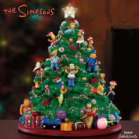 The Simpsons Hamilton Collection Lighted Christmas Tree