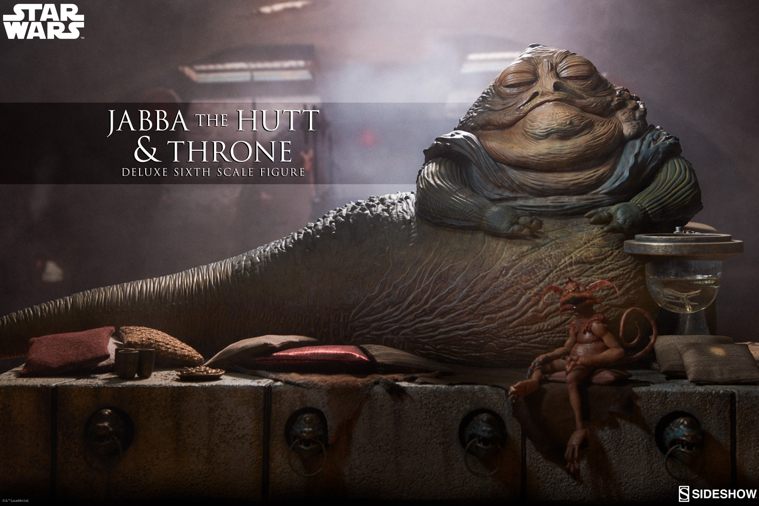 "Sideshow Collectibles'tan ""Jabba the Hutt and Throne Deluxe"" figürü ön-siparişte!"