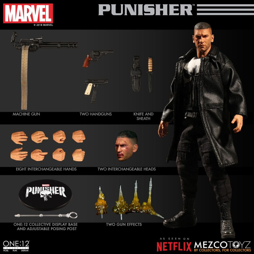 Mezco Toyz: Netflix'in Punisher'ı da One:12'ye Katılıyor