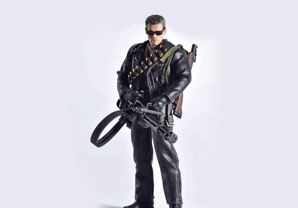 "Great Twins: ""Twelfth Scale Supreme Action Figure"": Terminator 2 T-800!"