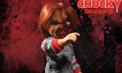 Mezco Toys: Child's Play 3: Talking Pizza Face Chucky Figürü!