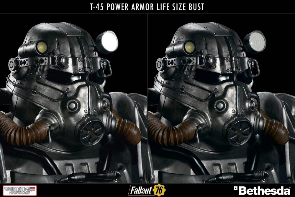 GamingHeads: Fallout T-45 Power Armor Life Size Bust!