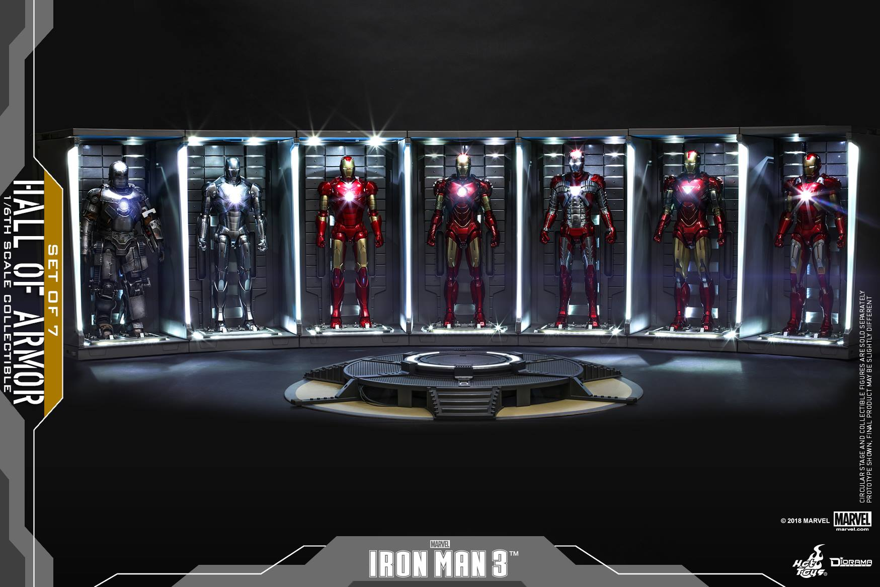 Hot Toys: 1/6 Iron Man 2 Hall Of Armor Koleksiyon Setini Duyurdu!