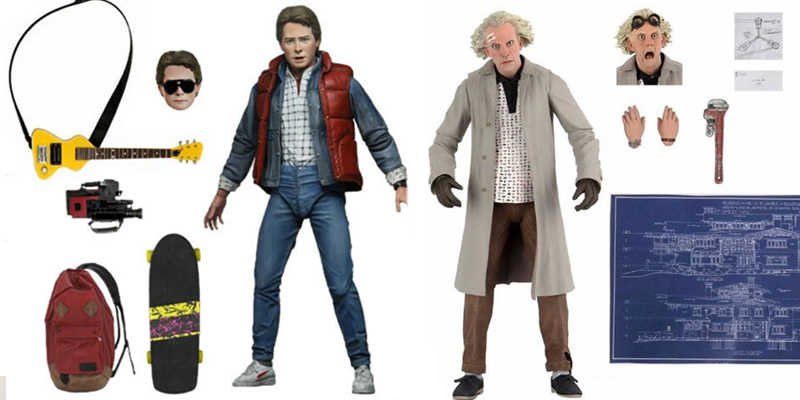 Back to the Future Part-1 Ultimate Marty Figure (Neca) ve Back to the Future Ultimate Doc Brown Figure (Neca)